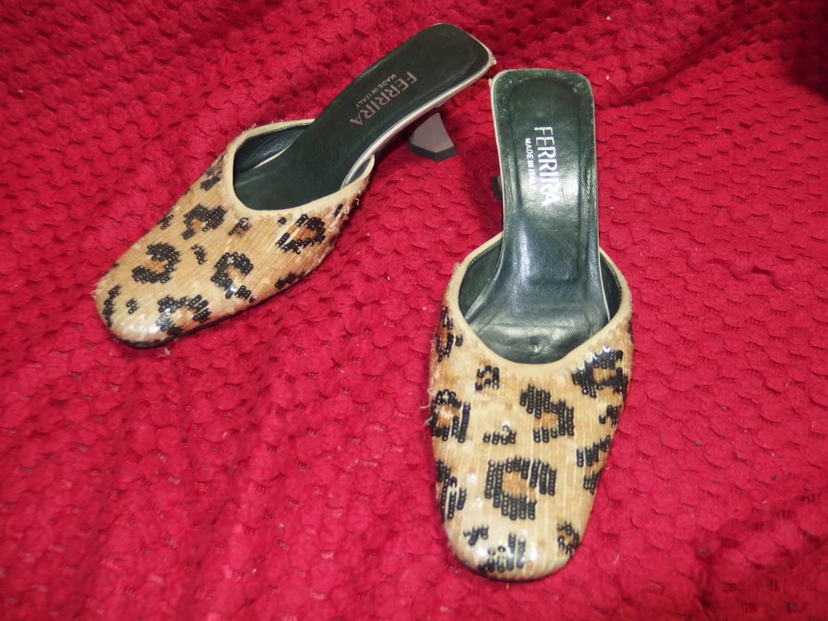 フェリーラFERRIRAイタリア製の婦人靴・レディースシューズ・ミュール/35サイズ/同サイズの靴を多数出品中/熊本県から定形外で発送_画像1