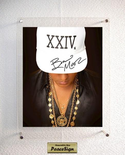 ◆直筆サイン◆ ブルーノ・マーズ / Bruno Mars ◆ 24K Magic / Versace on the Floor ★送料無料★彡