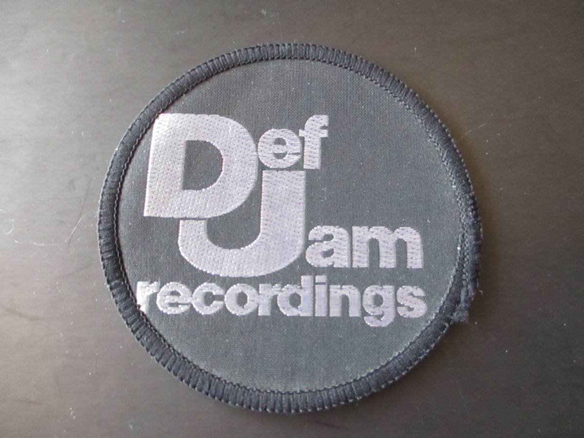 Def Jam recordings 刺繍パッチ ワッペン ヴィンテージ デッドストック / public enemy beastie boys slayer s.o.d.