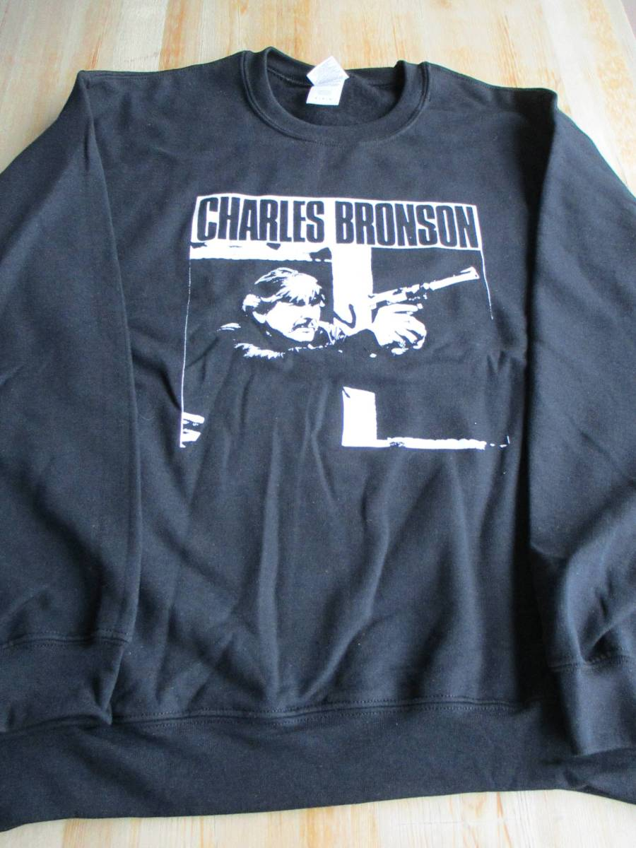 CHARLES BRONSON スウェット 黒M / los crudos spazz no comment crossed out despise you infest mk-ultra