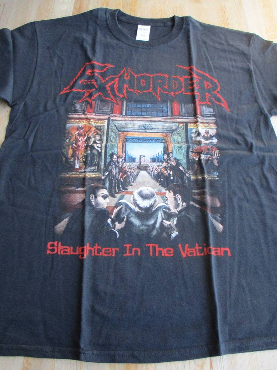 EXHORDER Tシャツ Slaughter in the Vatican 黒L / slayer possessed sodom megadeth pantera