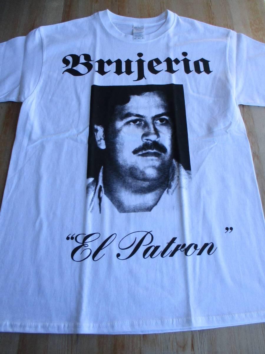 BRUJERIA Tシャツ el patron 白M ブルヘリア / napalm death carcass terrorizer brutal truth pungent stench