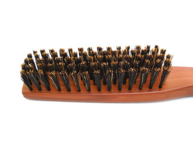 ベス プロ用ブラシ ブラッシング用 JI-1000 5行 平面 長毛 毛天然豚毛100% 柄ABS樹脂 地肌の痛くないブラシ 抜け毛予防 静電気抑制_画像5