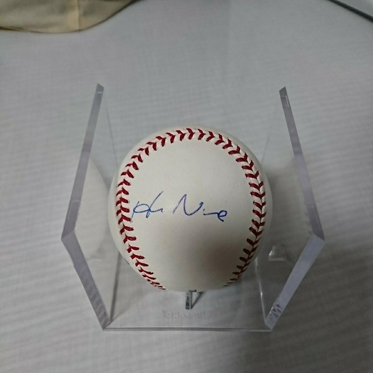 ドジャース 野茂英雄さん 直筆サインボール MLB公式球 グッズの画像