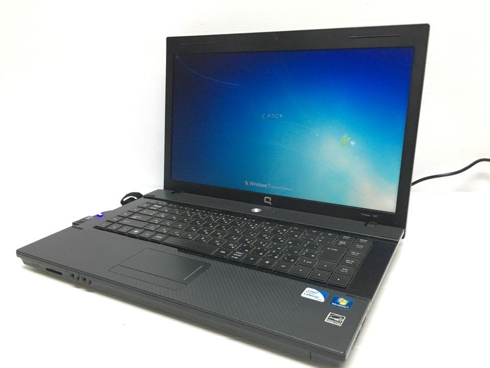 [美品1円] HP ノートPC Compaq 620 DualCore win7 スーパーマルチDVD 15インチ画面搭載