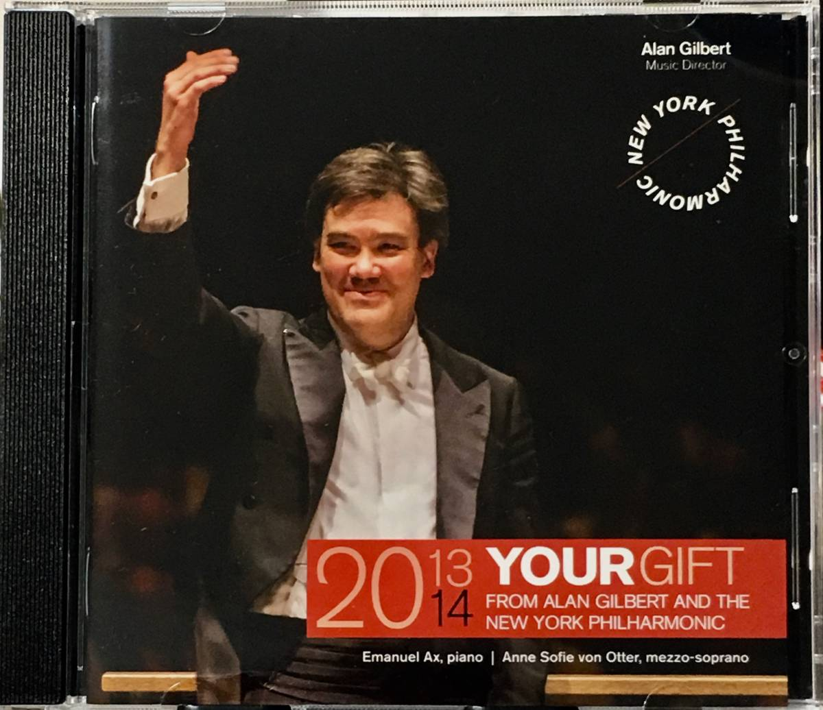 (Z0H)★レア盤/CREDIT SUISSE/2013-14 Your Gift from Alan Gilbert & The Newyork Philharmonic/Emanuel Ax/Anne Sofie von Otter★_画像3