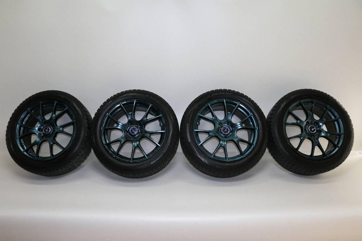 美品 WEDS LEONIS 30系アルファード ヴェルファイア 235/50R18 スタッドレスタイヤ 4本セット