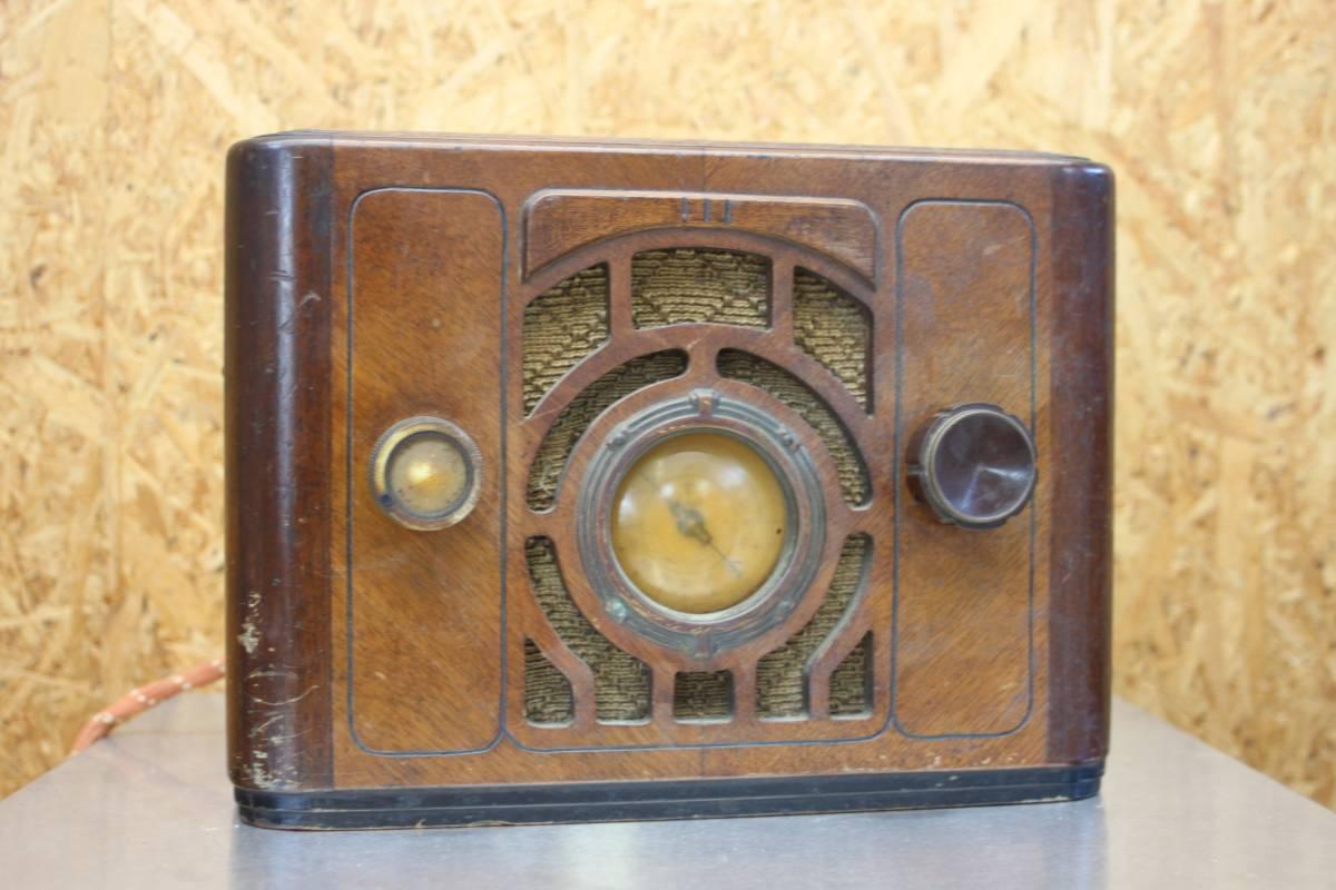 アンティーク 自作 真空管ラジオ