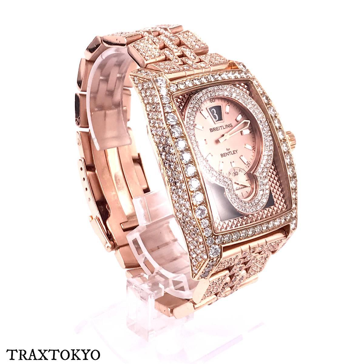 ブライトリング BREITLING ベントレー フライングB R28362 ピンクゴールド ダイヤモンド 美品 メンズ traxtokyo_画像4