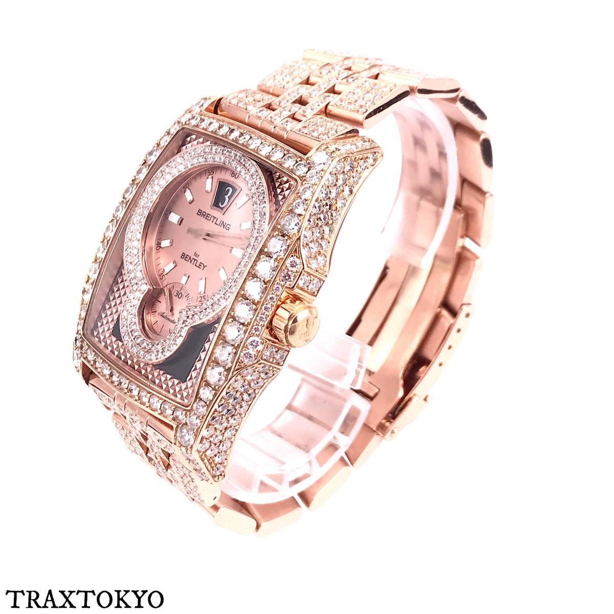 ブライトリング BREITLING ベントレー フライングB R28362 ピンクゴールド ダイヤモンド 美品 メンズ traxtokyo_画像2