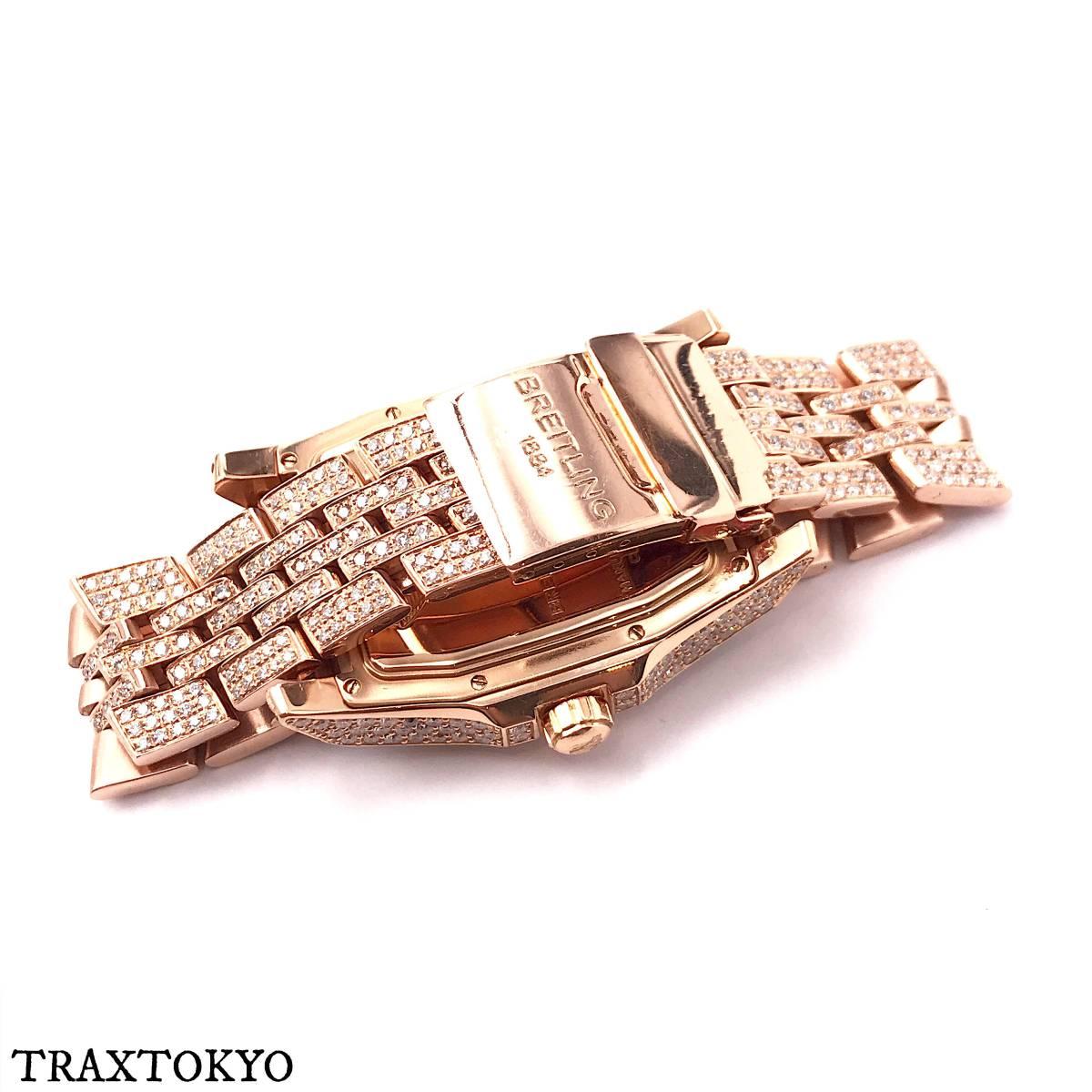 ブライトリング BREITLING ベントレー フライングB R28362 ピンクゴールド ダイヤモンド 美品 メンズ traxtokyo_画像9