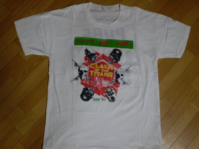 CLASH OF THE TITANS slayer anthrax megadeth suicidal alice in chains Tシャツ