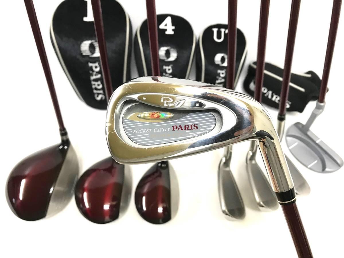 ■8本セット・超美品■Paris パリス ゴルフクラブセット レディース アイアン パター ユーティリティ_画像2