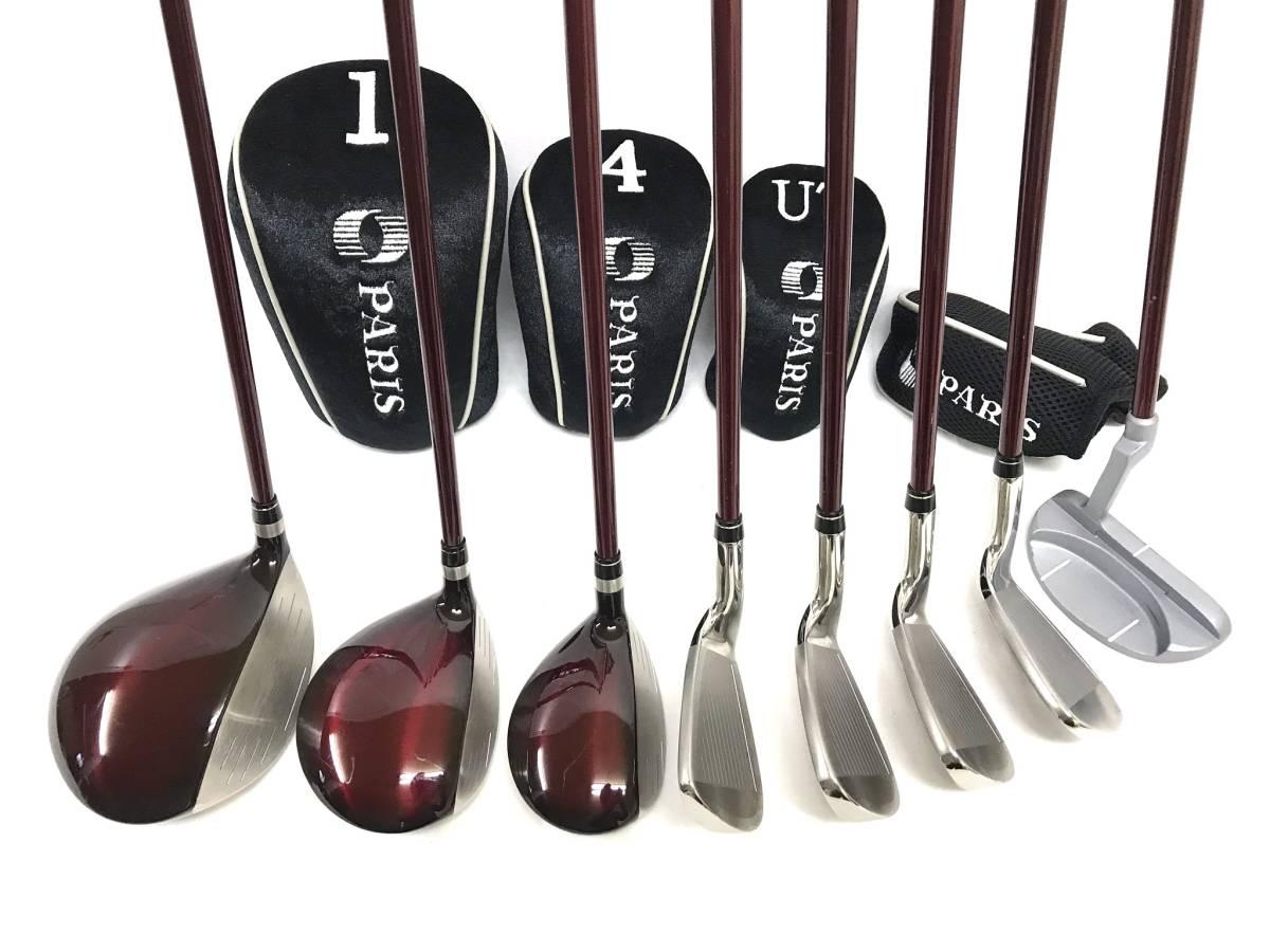■8本セット・超美品■Paris パリス ゴルフクラブセット レディース アイアン パター ユーティリティ