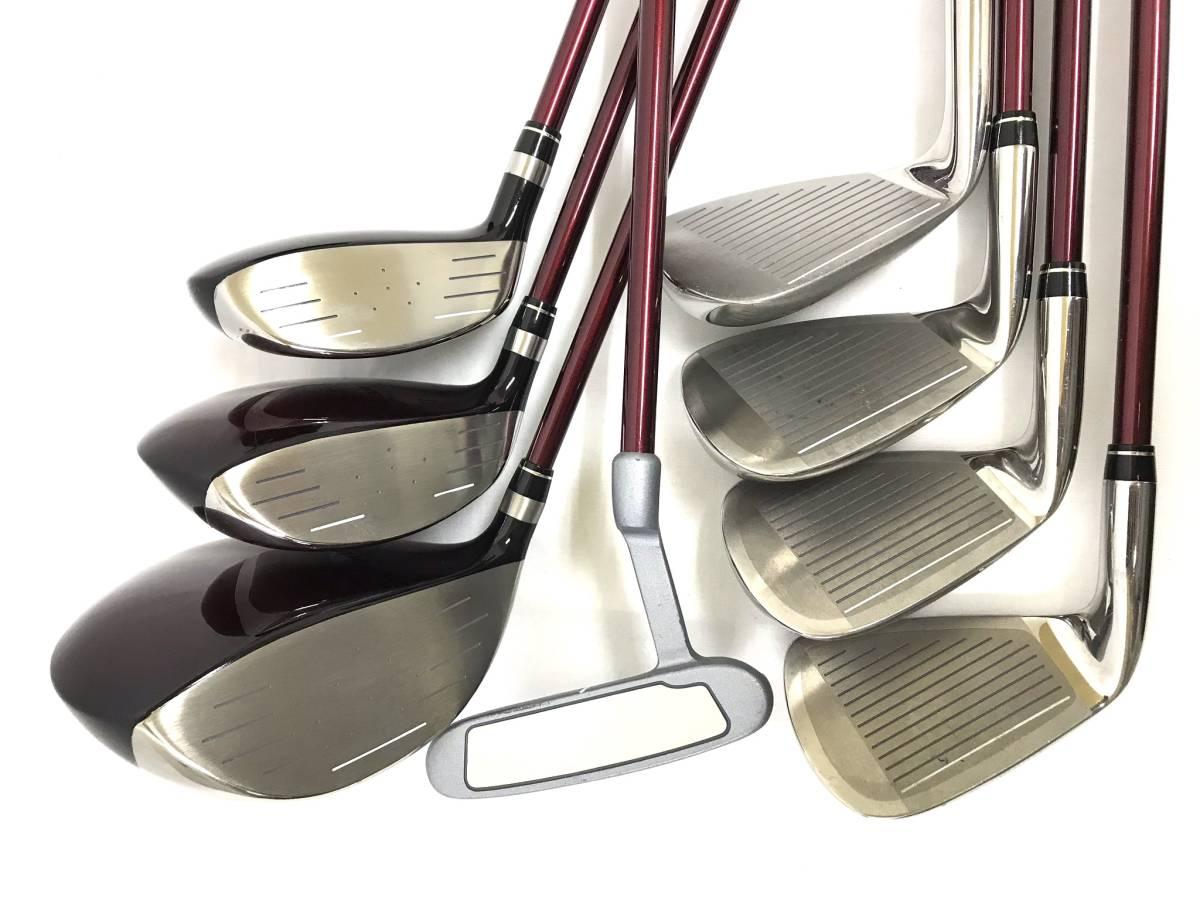 ■8本セット・超美品■Paris パリス ゴルフクラブセット レディース アイアン パター ユーティリティ_画像5