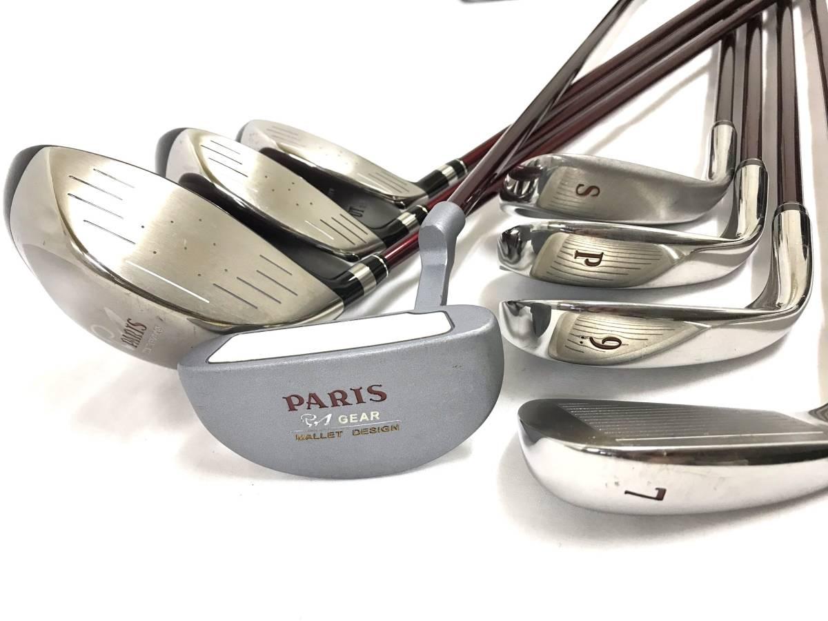 ■8本セット・超美品■Paris パリス ゴルフクラブセット レディース アイアン パター ユーティリティ_画像6