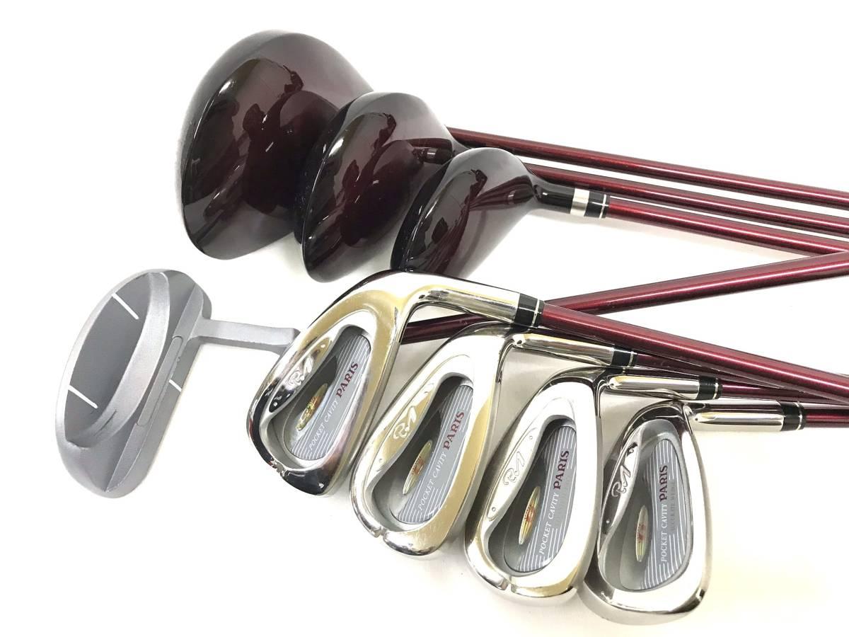 ■8本セット・超美品■Paris パリス ゴルフクラブセット レディース アイアン パター ユーティリティ_画像7