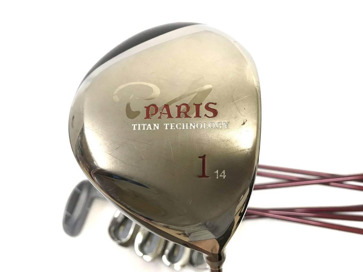 ■8本セット・超美品■Paris パリス ゴルフクラブセット レディース アイアン パター ユーティリティ_画像9