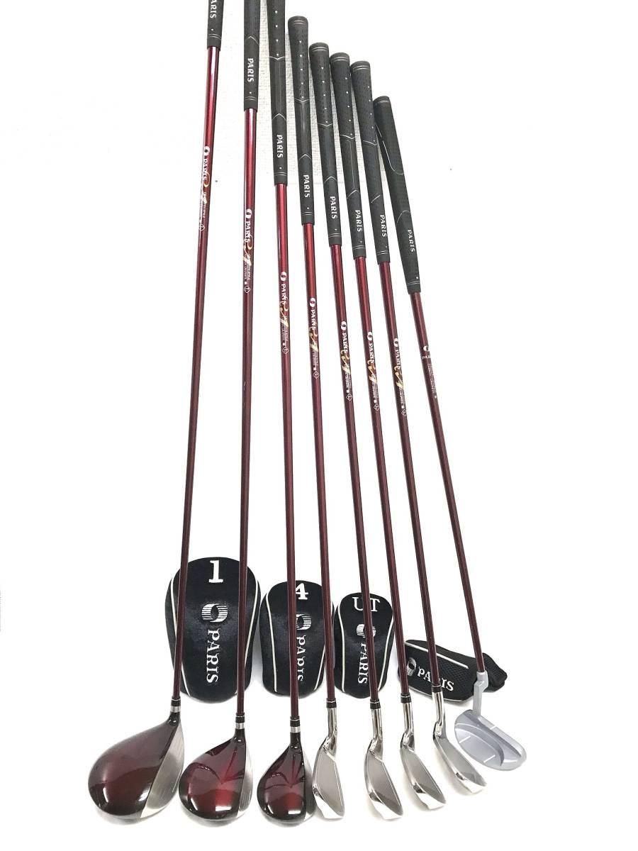 ■8本セット・超美品■Paris パリス ゴルフクラブセット レディース アイアン パター ユーティリティ_画像3