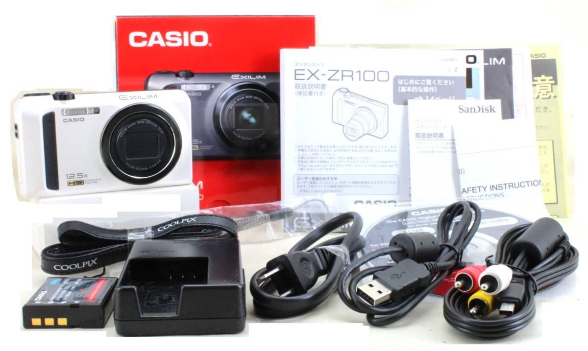 C(実用品) CASIO カシオ EX-ZR100 元箱付き 付属多数