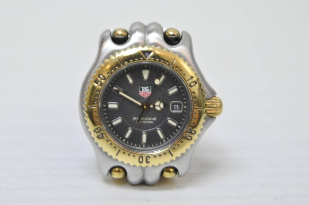 #0934 TAG HEUER Professional 200M WG1320-O タグホイヤー セル コンビ レディース 腕時計 グレー文字盤