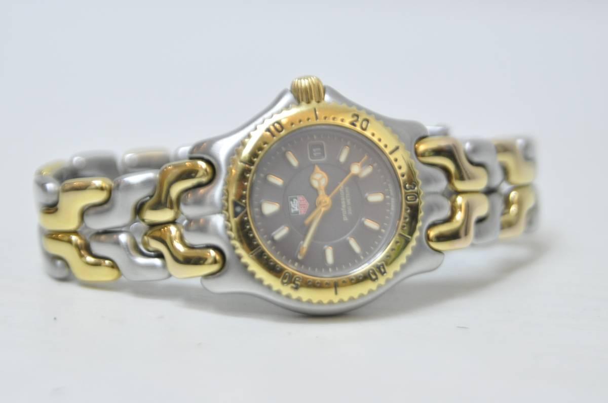 #0934 TAG HEUER Professional 200M WG1320-O タグホイヤー セル コンビ レディース 腕時計 グレー文字盤_画像2