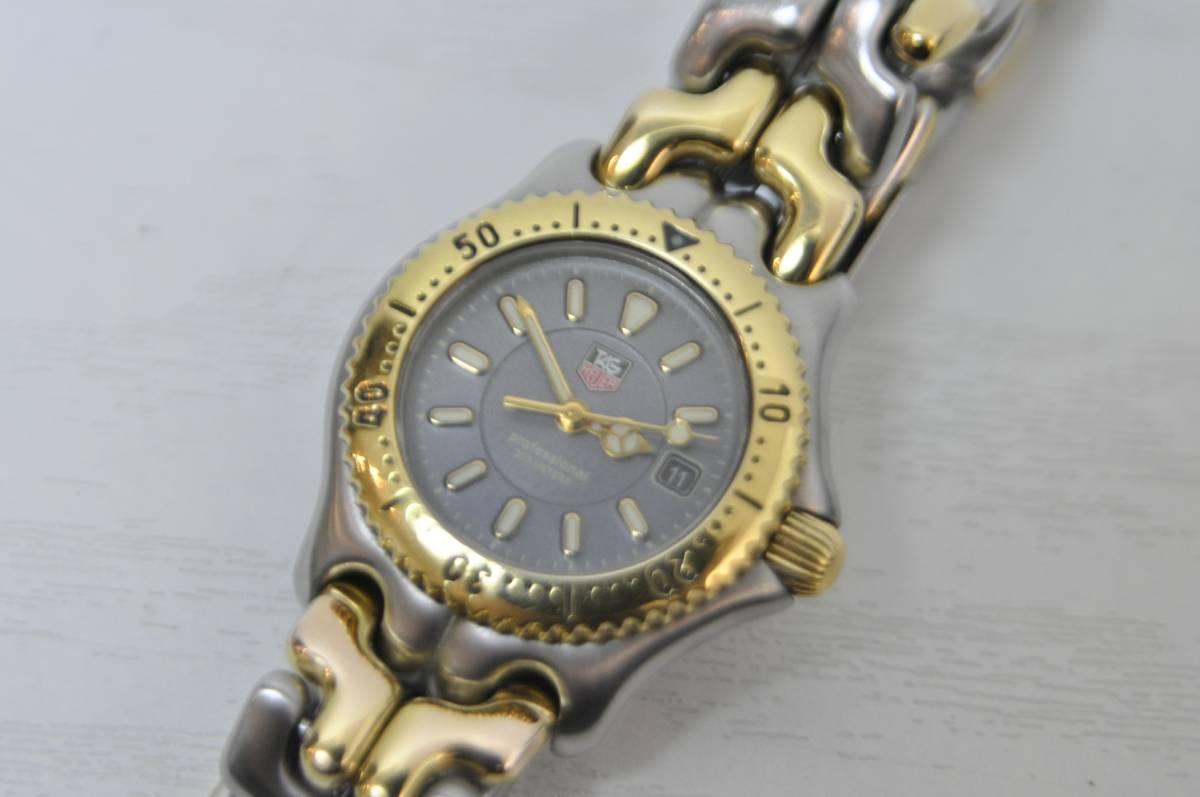 #0934 TAG HEUER Professional 200M WG1320-O タグホイヤー セル コンビ レディース 腕時計 グレー文字盤_画像3