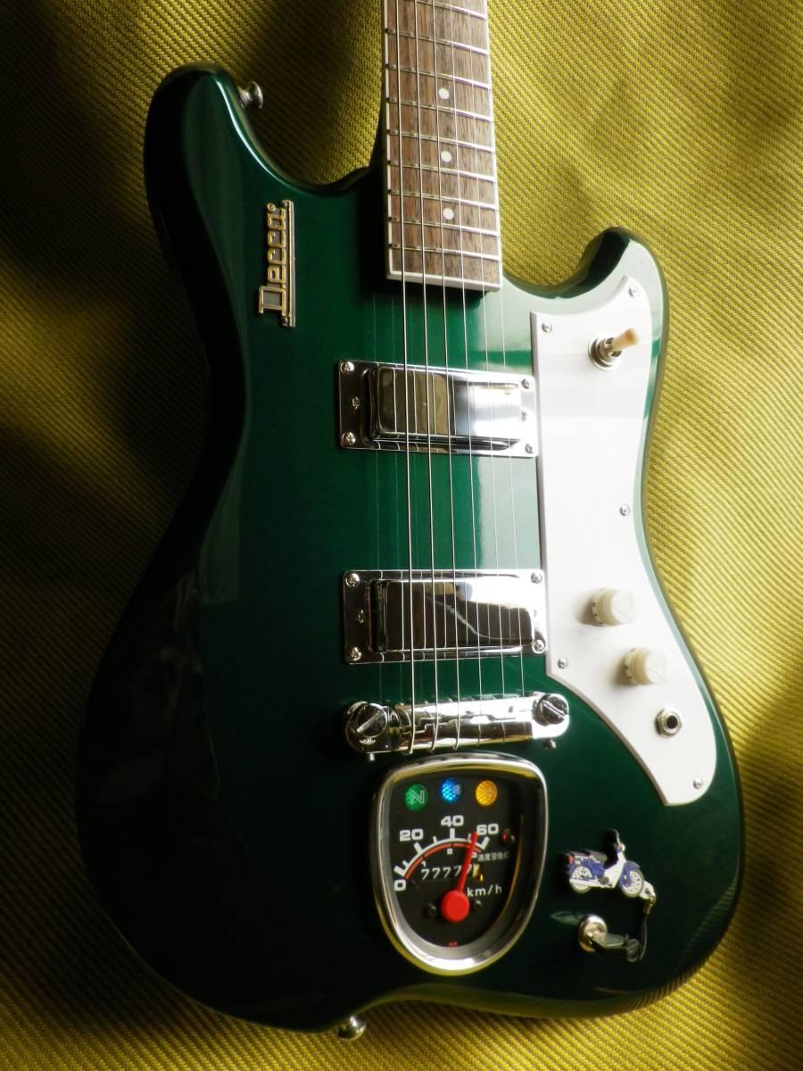 ■スーパーカブとギターが合体■ 光るメーター! 送料無料! decca kawai teisco ビザールギター ジャパンビンテージ たぶん60年代