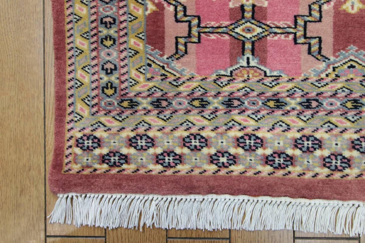 SALE 最高級カーペット パキスタン手織り絨毯 インテリアラグ 玄関マット アクセントラグ 73x125cm/GH575_画像7