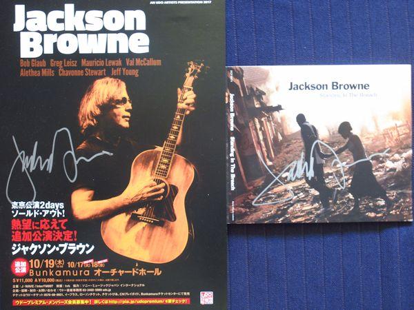 ◎ジャクソンブラウン 直筆サイン入りCD&チラシ!