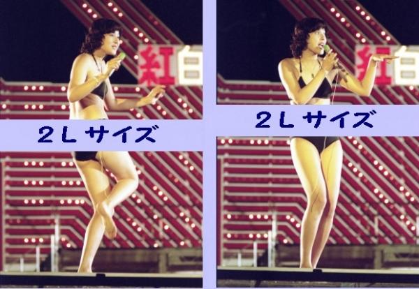 c1 浅野ゆう子 紅白歌のベストテン水着2Lサイズ写真2枚セット