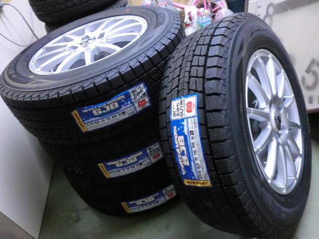 新品未使用! 215/65R16 ダンロップタイヤ スタッドレス + アルミホイール WEDS アルファード エルグランド ヴェルファイア