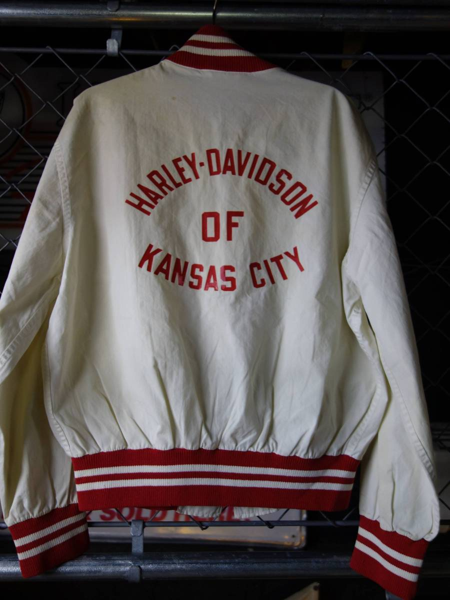60s CHAMPION×HARLEYDAVIDSON チャンピオン ランナーズタグ ハーレーダビッドソン ビンテージ レーシングジャケット M_画像7