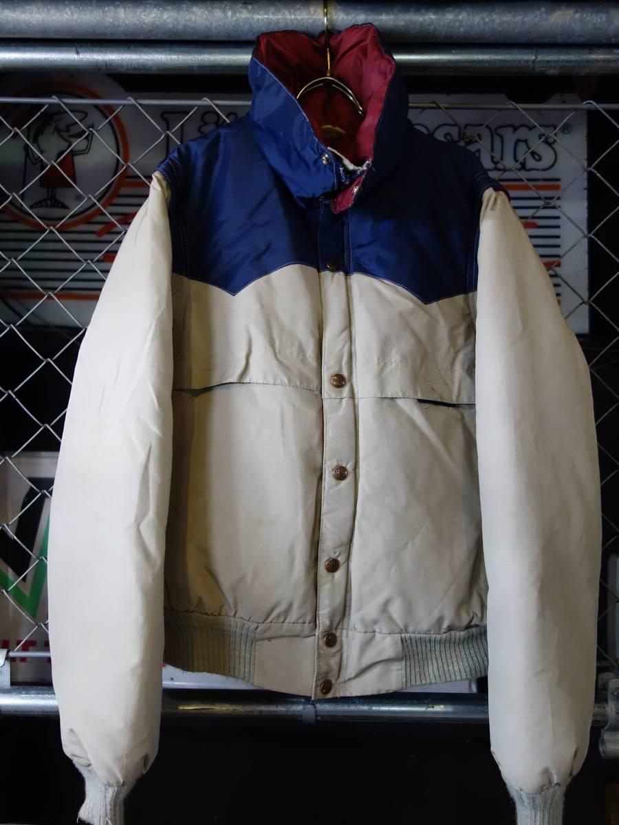 70s-80s Pouderhorn パウダーホーン 2WAY ビンテージ オールド ダウンジャケット M