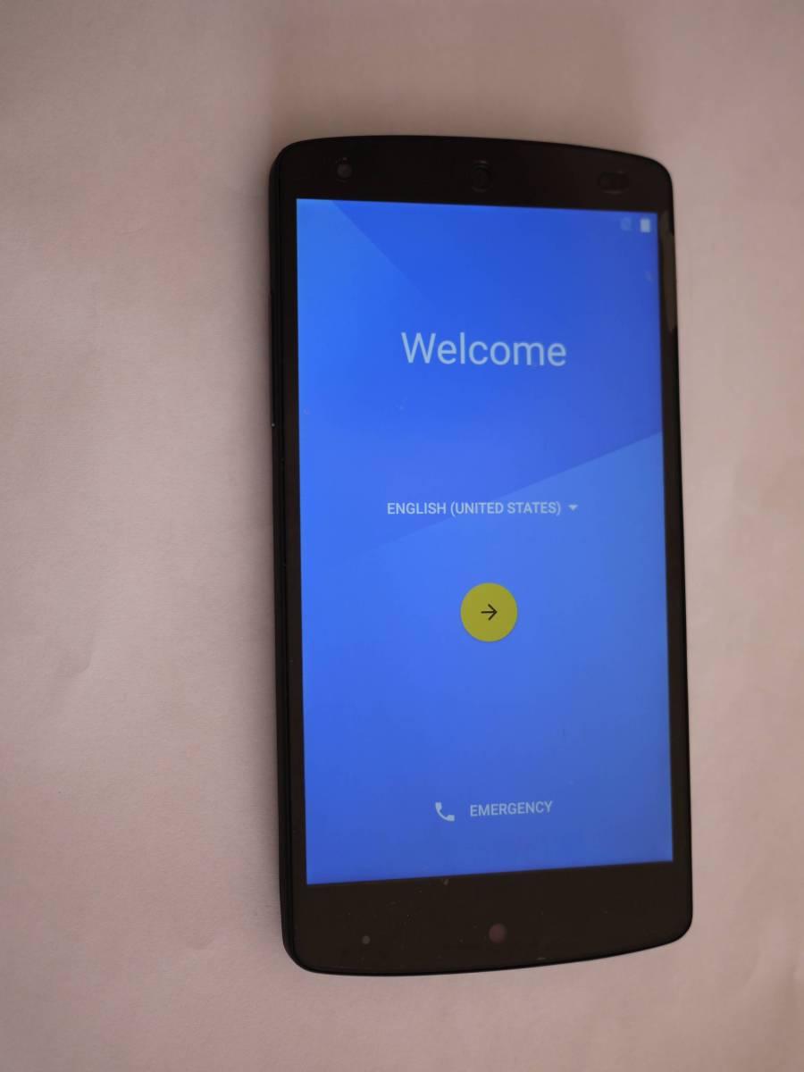 中古Nexus5 16GB黒 simフリー 液晶(外枠付き) 裏蓋 バッテリー 交換済み_画像2