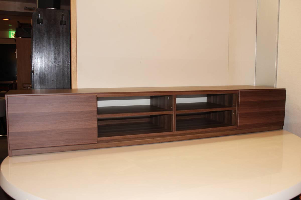 展示品 北欧スタイル ウォールナット調 テレビボード 1800 AVボード キャスター付き_画像1