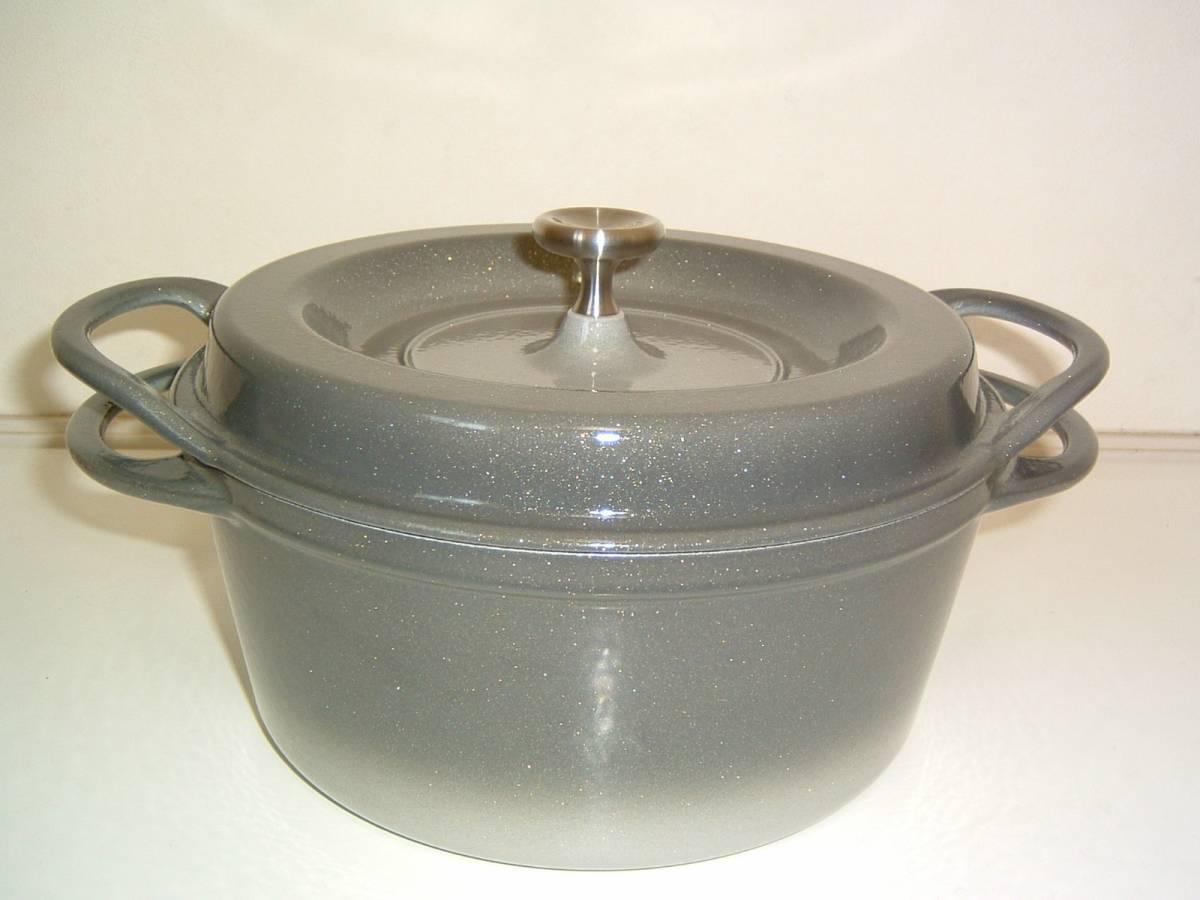 【未使用・展示品】Vermicular/バーミキュラ オーブンポット 22cm 両手鍋 グレー_画像2