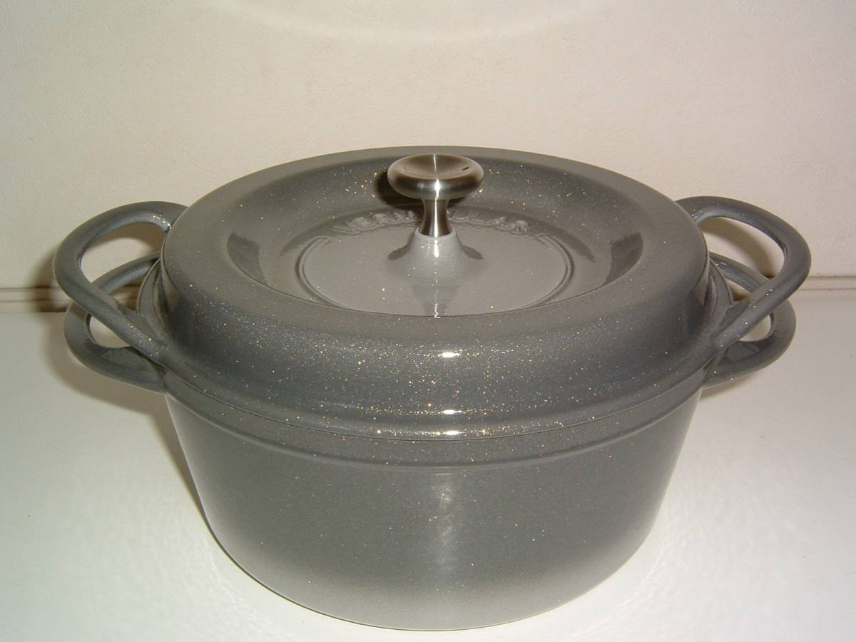 【未使用・展示品】Vermicular/バーミキュラ オーブンポット 22cm 両手鍋 グレー_画像6