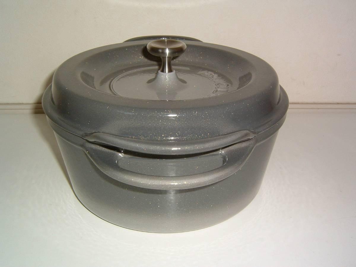 【未使用・展示品】Vermicular/バーミキュラ オーブンポット 22cm 両手鍋 グレー_画像9