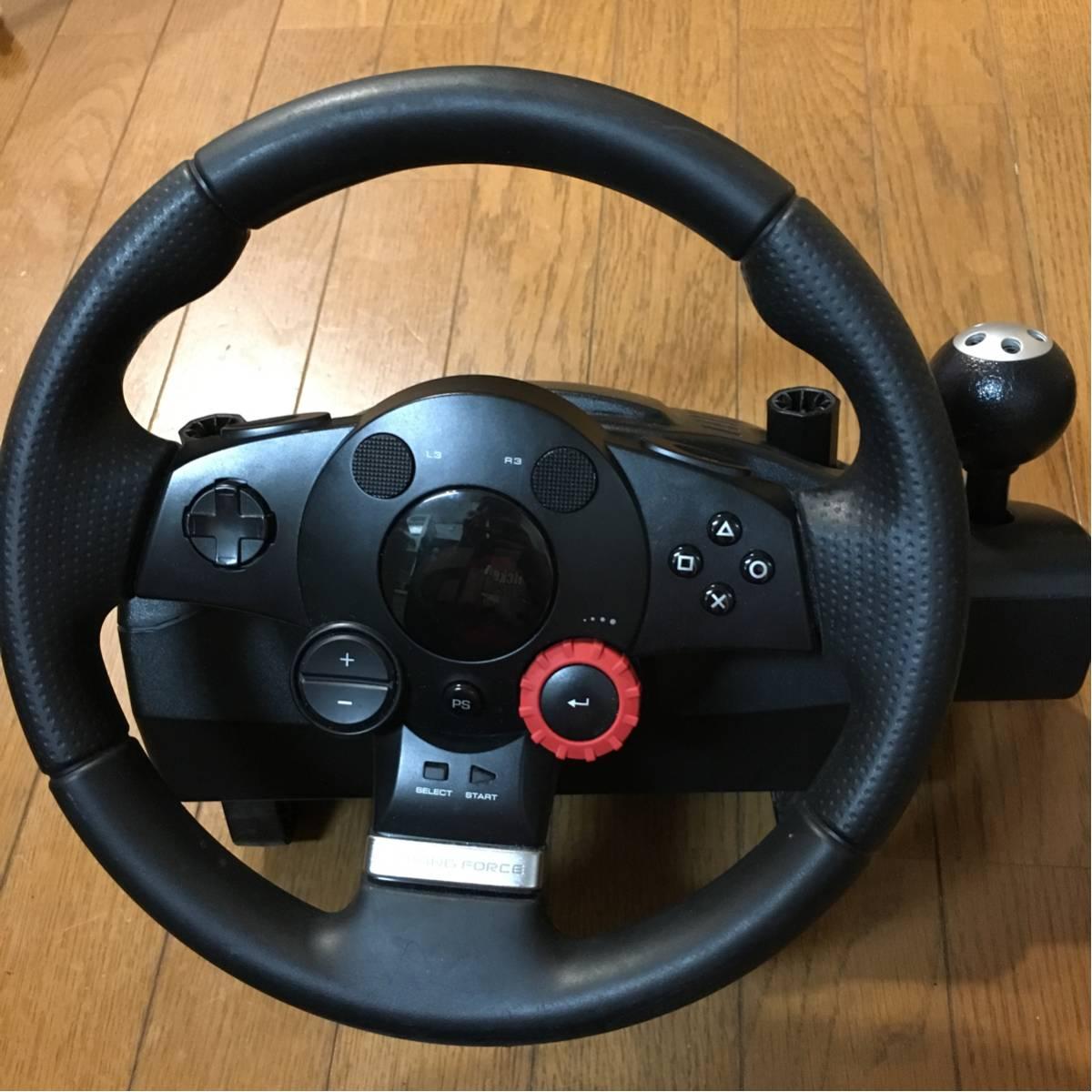 ★ロジクール ドライビングフォースGT Driving Force PS3 PS4ハンコン グランツーリスモ 動作確認済 logicool★_画像2