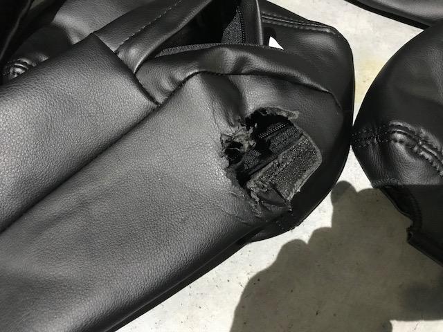 MK21S パレット クラッツィオ シートカバー 美品 格安 黒革調_画像4