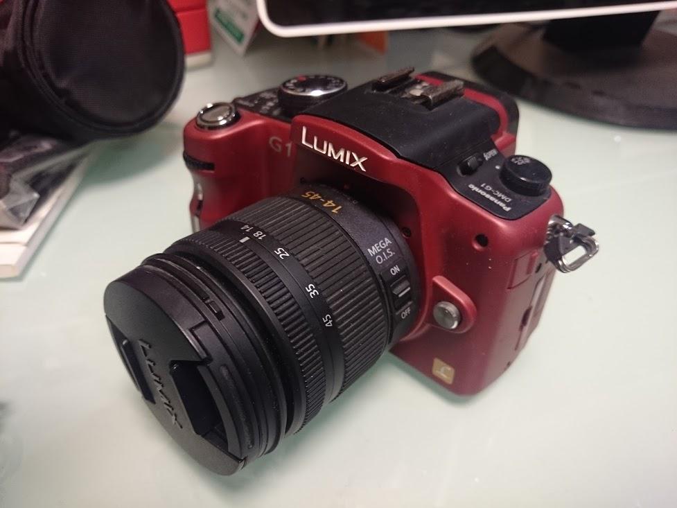 パナソニック/LUMIX/DMC-G1/コンフォートレッド/14-45mm