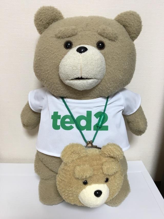 【ted 2個セット】ted ぬいぐるみ テッド 人形 がま口財布 XLサイズ 新品 タグ付き 映画 グッズの画像