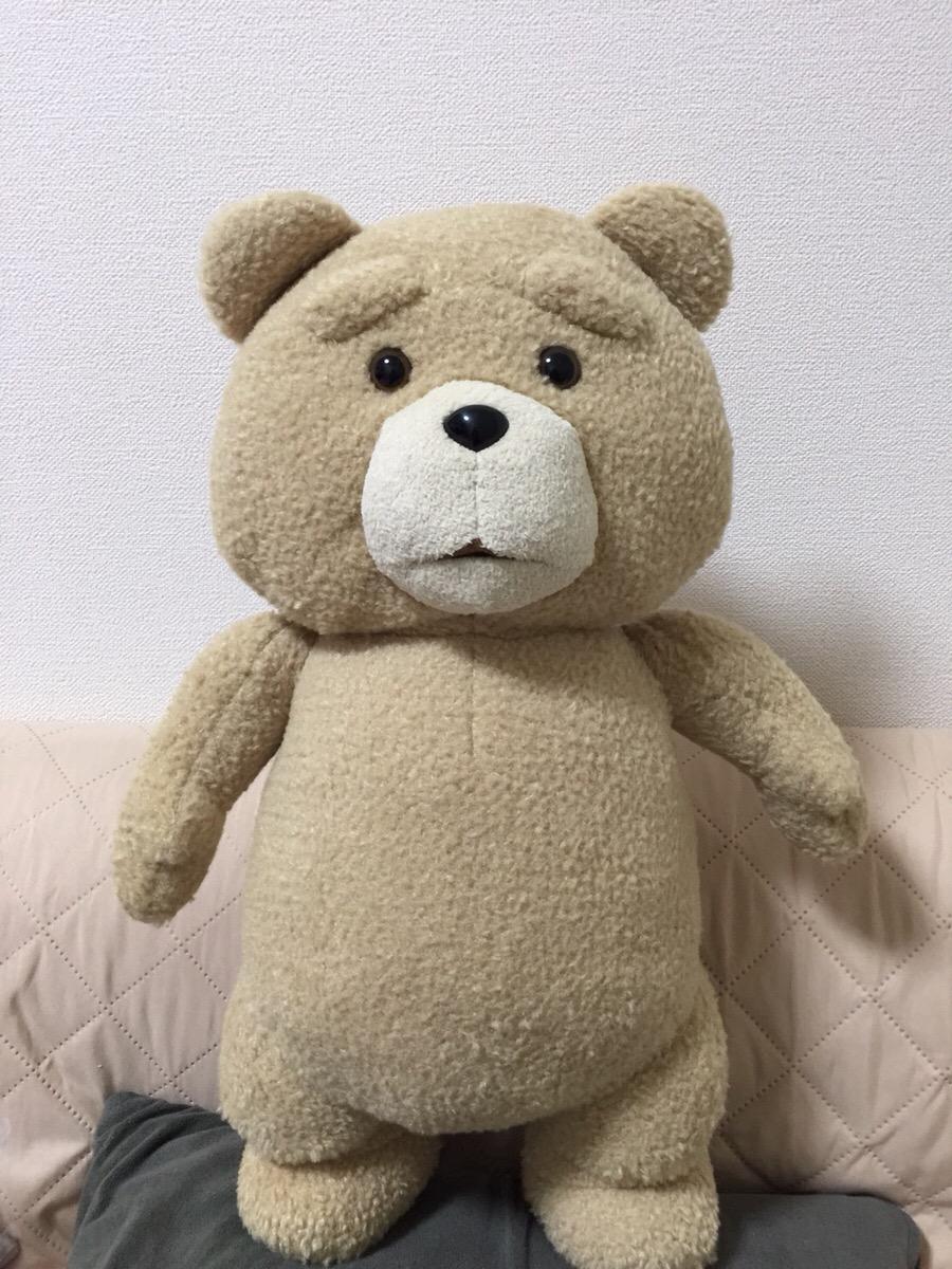 【美品】ted ぬいぐるみ テッド 人形 XLサイズ 中古 タグなし 映画 グッズの画像