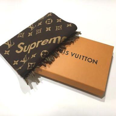 送料無料【正規品レシート有】Supreme×LOUIS VUITTON MonogramScarf シュプリーム ルイ・ヴィトン モノグラム スカーフ マフラー ストール