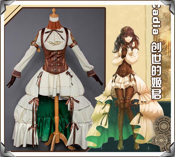 Code:Realize ~創世の姫君 カルディア ドレス ワンピース コスプレ衣装+靴下+腿飾り_画像1