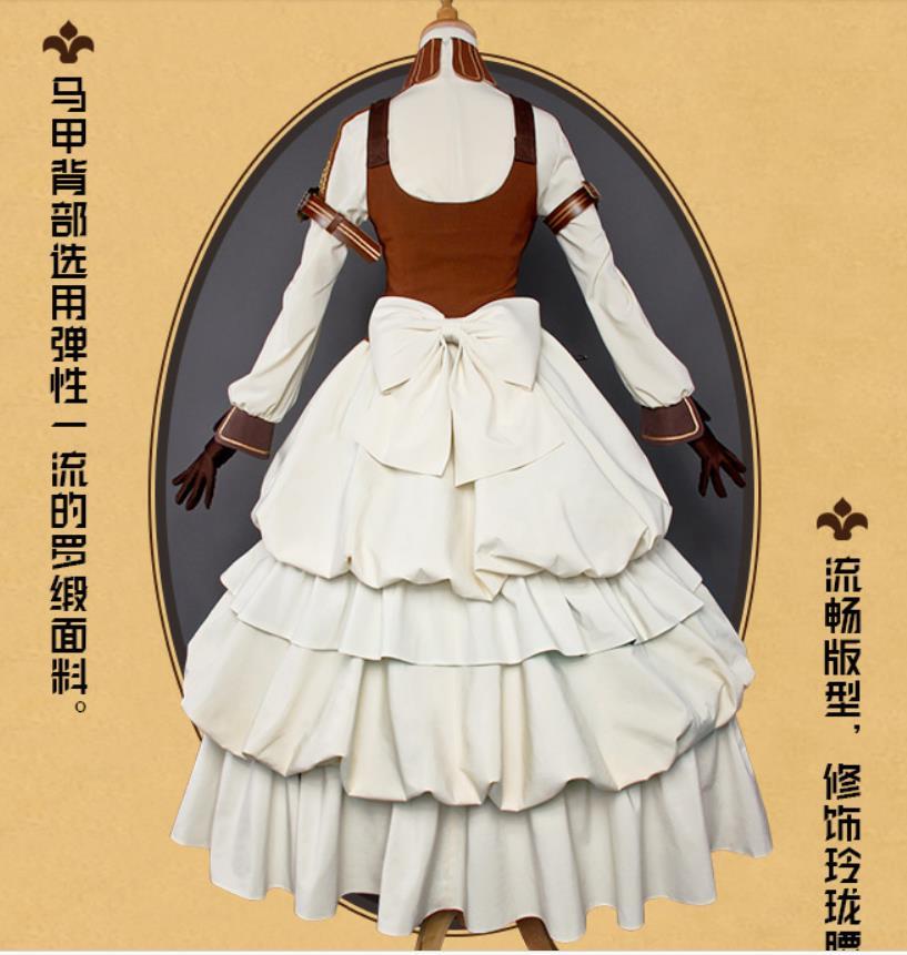 Code:Realize ~創世の姫君 カルディア ドレス ワンピース コスプレ衣装+靴下+腿飾り_画像3