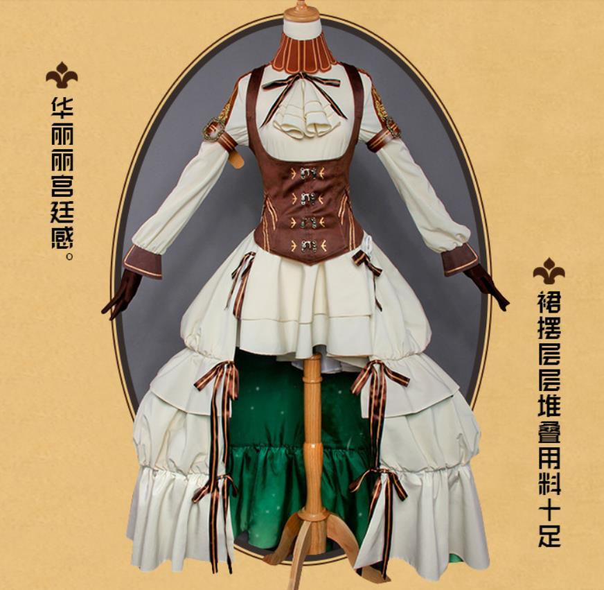 Code:Realize ~創世の姫君 カルディア ドレス ワンピース コスプレ衣装+靴下+腿飾り_画像2