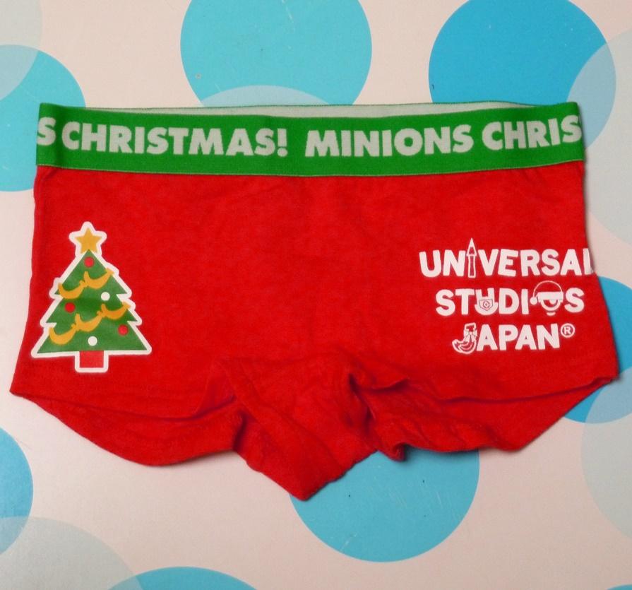 未使用品★ユニバーサル USJ限定 ミニオンのレディース ショーツ・サイズM★クリスマスver_画像2