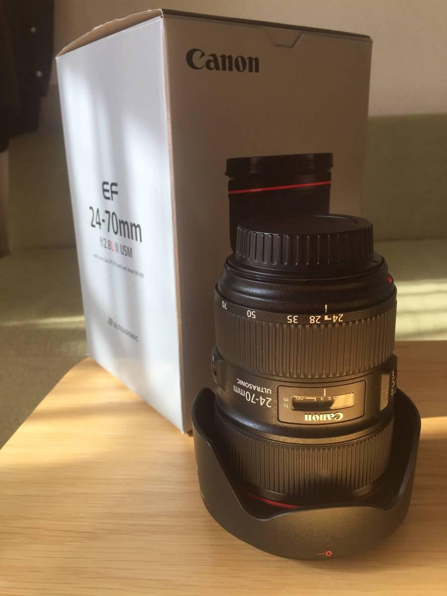 【1円スタート中古/美品】Canon 標準ズームレンズ EF24-70mm F2.8L II USM フルサイズ